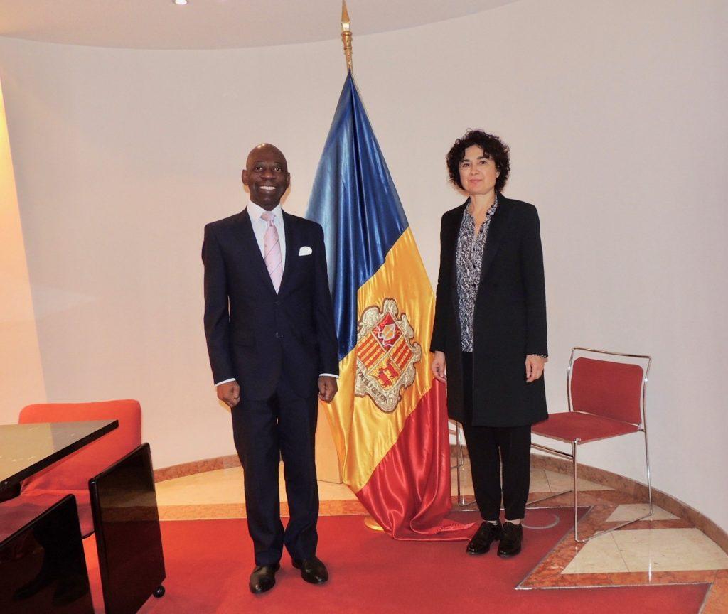 El Embajador Nvono-Ncá conoce a la nueva Embajadora de Andorra