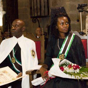 El Embajador Nvono-Ncá, nombrado Caballero Real de la Orden de Yuste