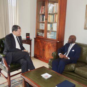 Visita al nuevo Embajador colombiano