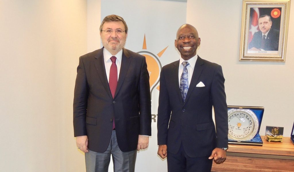Brussels-based Ambassador pays a visit in the AK Party office