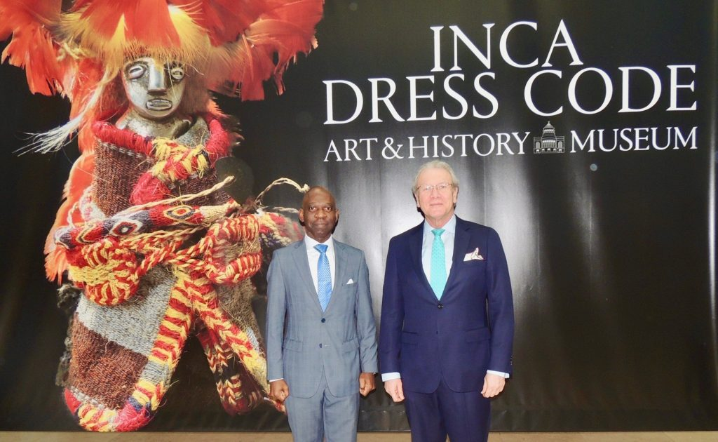 The Brussels-based Ambassador attended the closure ceremony of the Inca Dress Code Exhibition