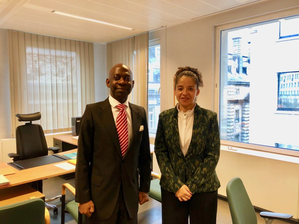 The Ambassador meets with the Belgian Ministry of Foreign Affairs