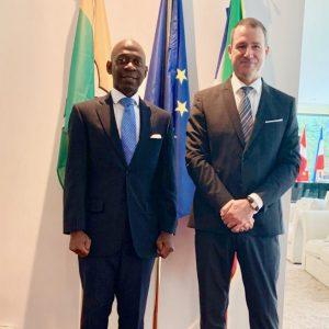 Jornada de trabajo junto al Representante Permanente de la Organización Internacional de la Francofonía