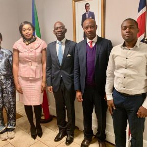 Nvono-Ncá celebrates with London-based diplomatic staff its new appointment as IMO representative