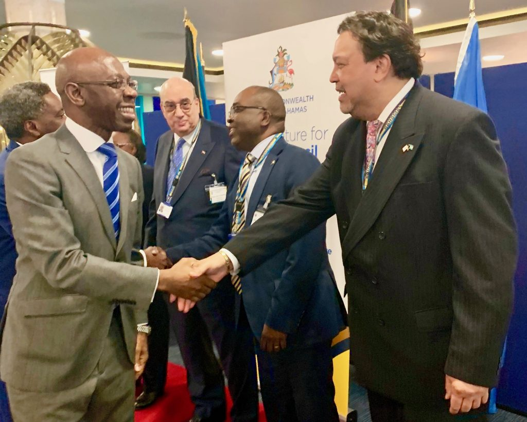 Nvono-Ncá attends the Bahamas London-based Embassy reception